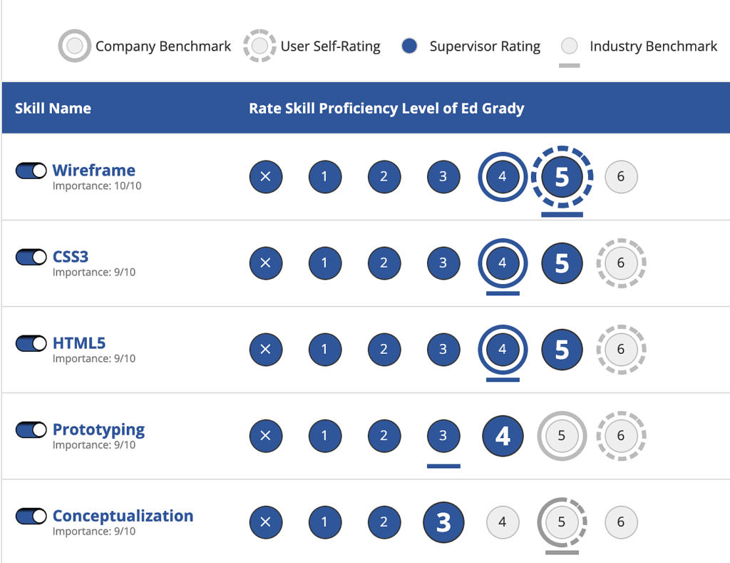 Strategic Workforce Planning - Skills Rating